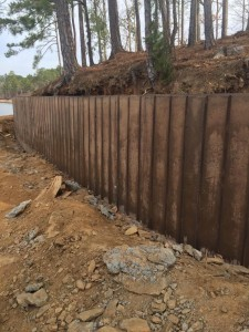 1000 Ft. Sea Wall build and installed at Lake Martin