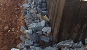 1000 Ft. Sea Wall build and installed at Lake Martin