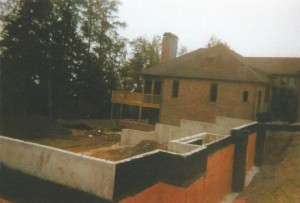Basement Walls set into a Sloped Lot